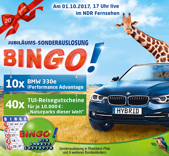 Bingo Sonderauslosung Rheinland-Pfalz